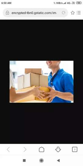 Parcel delivery and office work