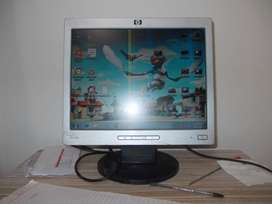 HP  monitor with few lines on display