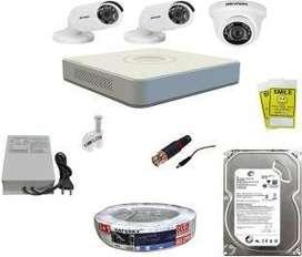 3 HD CCTV Cameras setup installation
