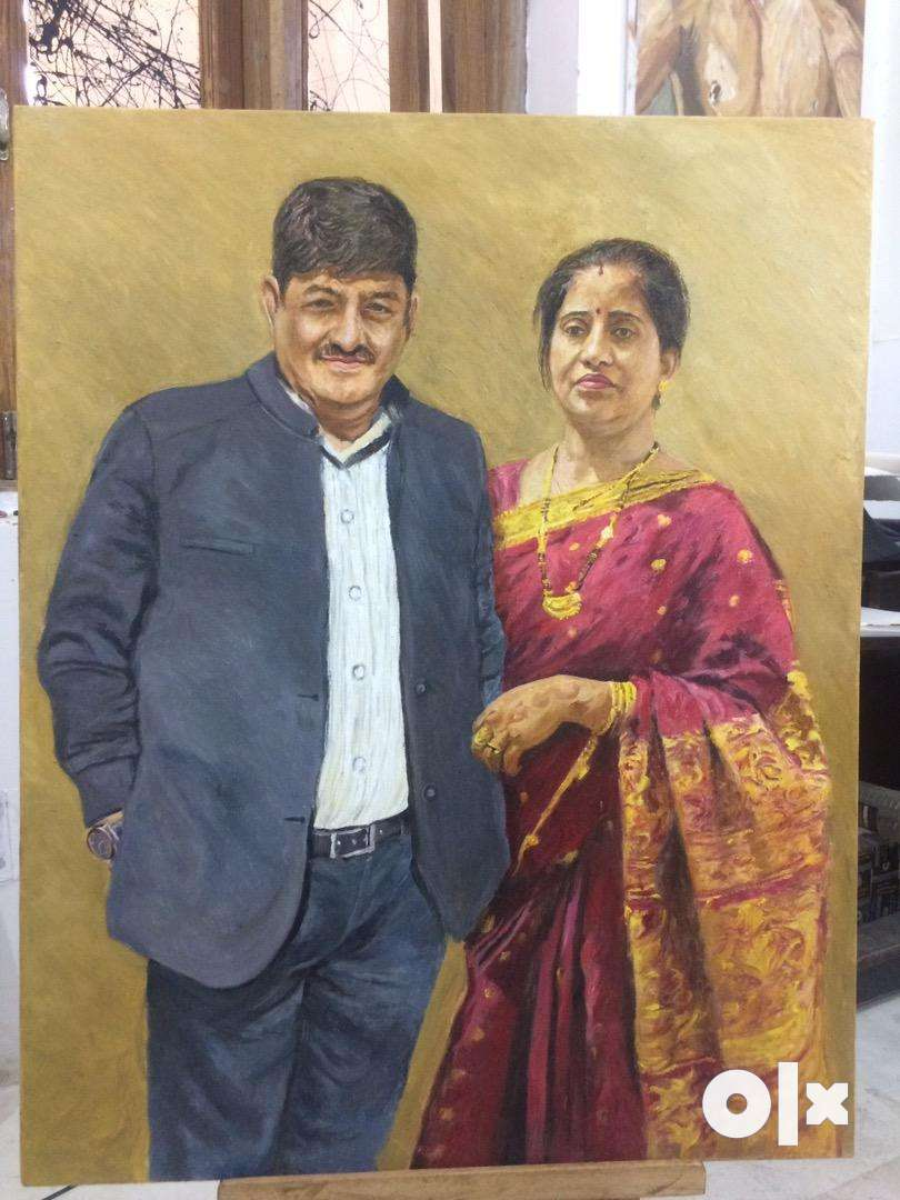 Painting, painter. ₹2,200/- square foot Oil on canvas