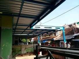 Baja ringan~renovasi, bongkar pasang atap lama dan canopy