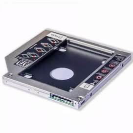 HDD Caddy Laptop Size 12.7mm SATA - Slot DVD to Hardisk Dual SSD