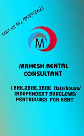 "For RENT MAHESH""S 2/3/4/5BHK FLATS,HOUSES BUNGLOWS N PENT HOUSES"