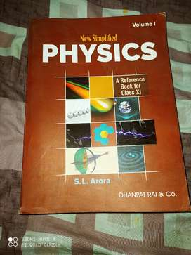S.L arora new simplified physics class 11