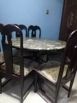 round dining table with 6 chairs solid and antique