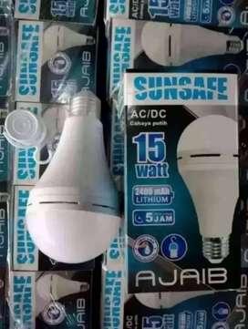 PROMO!! LAMPU EMERGENCY SUNSAFE LUBY 15 WATT-LED DARURAT 15W-BARU