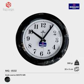 Jam Dinding Mirado MQ 8532 WH/MARMER