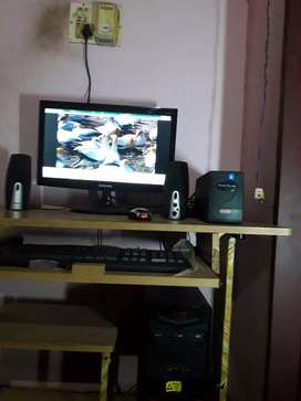 Monitor, CPU, Keyboard, Mouse, Speaker and UPS