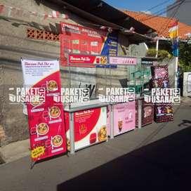 #Booth Jualan Makanan / Booth Portable-Meja Lipat; #bakpau plastik