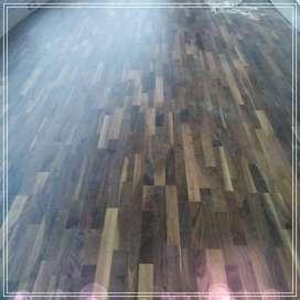 Flooring KAYU SOLID & LUMBER SHIRING LANTAI KAYU MAMUJU^ AHLI PEMASANG