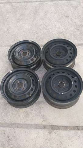 4 velg kaleng ring 14 pcd 100 lebar belang no cacat bisa ban tubeless