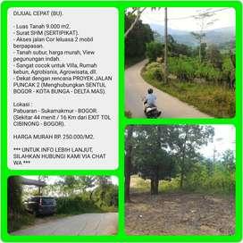 Dijual Murah dan Cepat (BU) Tanah dengan Luas 9.017M2