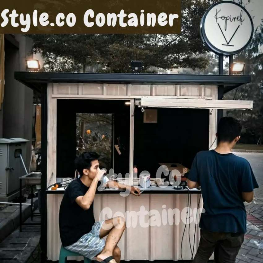 DISKON TAHUN BARU | BOOTH SEMI CONTAINER | CONTAINER CAFE BAR RESTO | 0