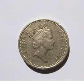 RARE 1 POUND COIN
