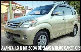 Toyota Avanza G 1.3 2004 MT Manual BE Emas Metalik Cakep ORI Terawat