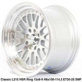 $$$new racing velg***CLASSIC L215 HSR R15X8-9 H8X100-114,3 ET30-25 SMF