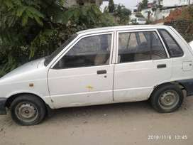 Maruti 800, with LPG gas kit in running condition.