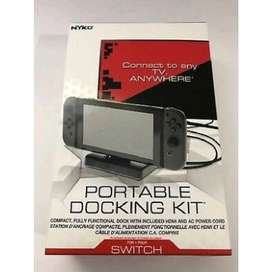 Portable compact docking kit for nintendo switch nyko original