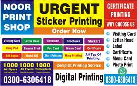 Sticker Printing Photo Printing Visiting Cards Flyers Pamphlets Sticke