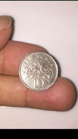 Uang Coin Singapura