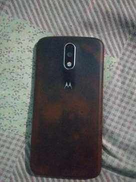 Moto g 4  black colour in well condition used three years