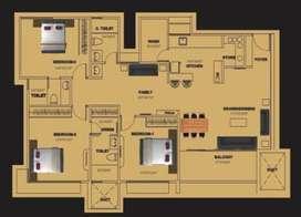 Flat for sale in raheja residence