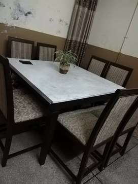Eight chairs dinning table