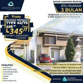 Rumah 345 Juta dekat Gunung anyar & Rungkut, 3 bulan siap huni