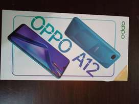 Oppo A12 4/64  dabbapack never open with waranty instant charge