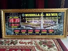 Menjual Jam Masjid Bergaransi Free Desain Pelengkap Masjid Anda