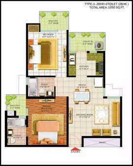 2 BHK Flat for Sell in Bharat City Ghaziabad@25 L