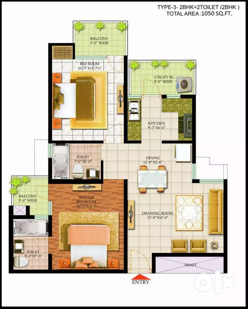 2 BHK Flat for Sell in Bharat City Ghaziabad@25 L 0