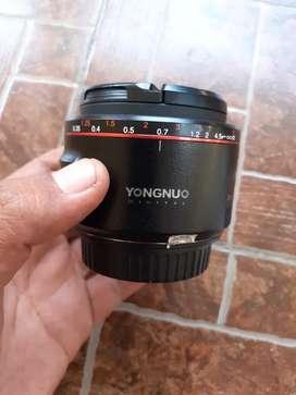 Lensa fix yongnuo 50mm Mark II For canon