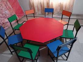 2 octagon Table and 16 chairs for sale