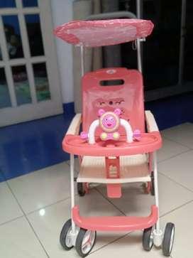 Stroller pink anak