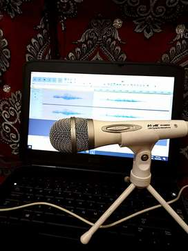 Usb Mic with small Tripod stand (direct plug and play)