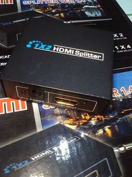 Box Splitter HDMI 2in1 With Power High Quality Resolution