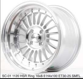 velg racing SC-01 1120 HSR R16X8/9 H4x100 ET30/25 SMFL