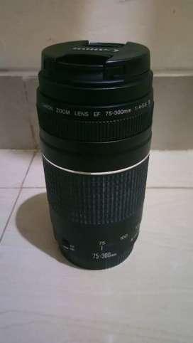LENSA ZOOM TELE CANNON 75-300MM F/4-5.6 III