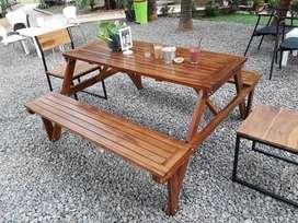 MEJA KURSI TAMAN LIPAT (Picnic / Magic Table) CLEARANCE SALE!