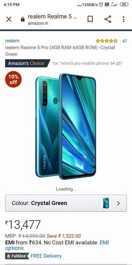 Realme 5 pro seal packed