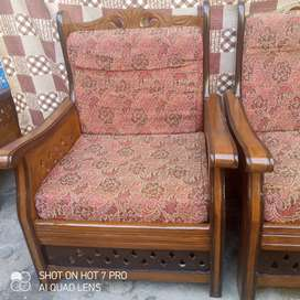 5 seater sofa set and wooden cup board 2 door