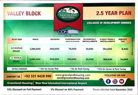 Graceland Housing 5 Marla plot booking with only 355000