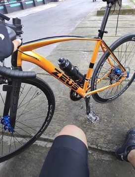 Sepeda roadbike / sepeda balap fork carbon full upgrade