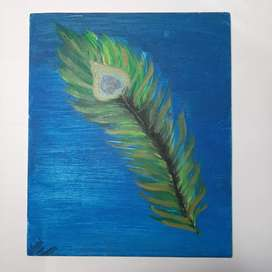 Painting of a feather