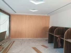 Wooden flooring windows blinds pvc wall panel False ceiling available