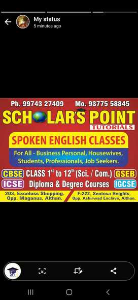 We conduct tution for STanDard 1 to 12