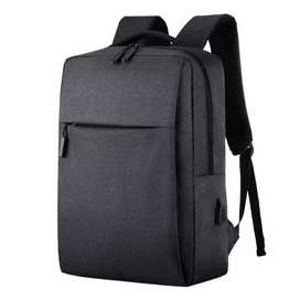 Litthing Tas Laptop Backpack Anti Maling with USB Charger Port - Black
