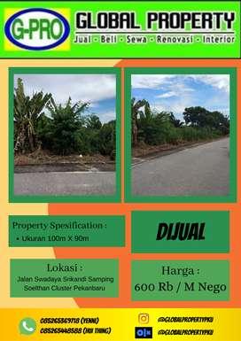 Dijual tanah Luas Daerah Srikandi PekanbaruInformasi lebih lanjut bisa
