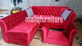 Sofa kancing L putus red ferrari